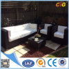 Nuovo Brown e White Outdoor Rattan Chaise Lounge