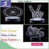 Luz eficaz colorida de la noche del vector de 3D LED