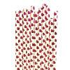 Pajas de beber de papel de la hoja del partido del corazón decorativo de Rose