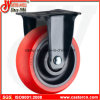 Mittleres Duty Rigid Caster mit Red TPU Wheel