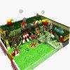 Oscilación plástico del patio de interior de los niños con la diapositiva dos para la venta