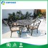 Metal determinado del mueble del jardín de la fundición de aluminio del jardín antiguo/de bronce que cena la silla/la tabla y las sillas al aire libre (FY-012ZX) del metal