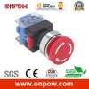 Onpow 30mm Emergency Switch (LAS0-K30-11TSD/Head Color, CE, CCC, RoHS)