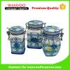 Scatola metallica chiusa ermeticamente decorativa di ceramica per il contenitore di alimento della cucina