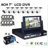 kit todo junto de 8CH 7inch DVR con 8 cámaras y 8 cables del PCS el 18m (DVR-6804MKS) del PCS Cmos 800tvl