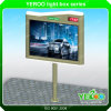 El equipo publicitario más barato para la cartelera al aire libre del uso con el reloj del LED