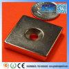 N42 verzonk F25.4X25.4X6.35mm de Magneet van de Zeldzame aarde van het Blok van NdFeB van het Gat