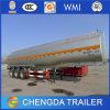 Remorque en aluminium peinte de camion-citerne de combustible dérivé du pétrole de tri essieu semi