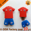 Vara feita sob encomenda do USB da forma de Jersey do rugby com logotipo (YT-JR)
