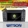 Carro DVD GPS do Android 5.1 de Witson para o Benz Slk200/Slk280 Slk350/Slk55 2004-2012 com sustentação do Internet DVR da ROM WiFi 3G do chipset 1080P 16g (A5576)