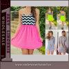 Платье пляжа лета США причудливый девушки сексуальное без бретелек шифоновое (TKYA331)