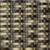 Tuile de mur de mosaïque d'or d'onde, mosaïque en verre