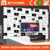 Home Decoration를 위한 검정과 Whtie Wall Paper