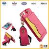 iPhone를 위한 호화스러운 PU 가죽 지갑 디자인 이동 전화 상자