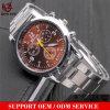 Yxl-329 venden al por mayor los relojes de encargo del cuarzo del acero inoxidable del negocio del reloj del cronógrafo más barato para el reloj automático de la promoción del Mens