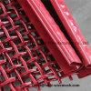 Squre Maschendraht mit Haken, rote Farben-quetschverbundener Maschendraht mit Haken