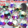 Ss4-Ss40 borran las piedras de cristal de los cristales de los Rhinestones del Ab no Hotfix Flatback del cristal (FB-ss4-ss40 cristal el ab)