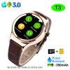 SIMのカードスロット(T3)が付いているスマートな腕時計の電話