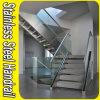 Balustrade en verre d'acier inoxydable de Customed pour le balcon d'escalier