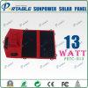 Alta efficienza piegante di Sunpower 13W che piega caricatore solare per il telefono, batteria del giro Top/12V (PETC-H13)