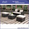 Jogo de vime da mobília do pátio ao ar livre do Rattan do PE, sofá da sala de estar do jardim ajustado (J382-C)