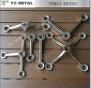 304 Steel di acciaio inossidabile Un Arm Satin Curtain Wall Spider per Glass