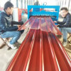 Plaque en acier enduite d'une première couche de peinture par feuille ondulée en acier de toiture en métal