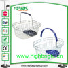 Plastic Trayの単一のHandle Wire Shopping Basket