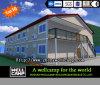 Zwei Fußboden-bewegliches modulares vorfabriziertes Haus