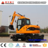 excavadores de la rueda de 4X4 Wd para la venta, 6t, 7t, 8t, excavador de la rueda 12t para la venta