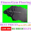 Levantamiento de pesas de seguridad Crossfit de goma Revestimientos de suelos para gimnasia