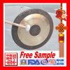 Gong cinese/gong di Chao con il bastone del maglio e del basamento