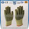 Перчатки предохранения от работы безопасности Двойн-Стороны Aramid поставленные точки PVC Резать-Упорные (Non-slip)