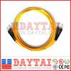 Стандартное оптическое волокно St/Upc удваивает шнур заплаты волокна