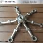 Vetro di acciaio inossidabile del ragno della parete divisoria del raso delle 316 sei braccia
