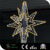 Luces al aire libre del adorno de la estrella de Ramadan para las decoraciones del árbol de navidad