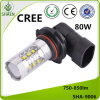 CREE LED Car Fog Light 80W Branco 750-850lm
