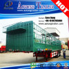 3つの車軸Cattle Transport StakeかFence Flatbed Semi Truck Trailer