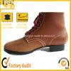 最上質の革ブラウン作業安全靴