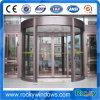 Вращающаяся дверь безопасности автоматическое алюминиевое обеспечивая циркуляцию