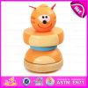 2015 brinquedos de madeira bonitos do Tumbler do bloco de apartamentos, bebê engraçado brincam o brinquedo do Tumbler, brinquedo de madeira barato relativo à promoção W13D067 do Tumbler do brinquedo