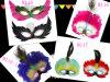 Máscara da pena do pavão de Halloween