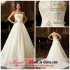 Jueshe neues Entwurfs-Kathedrale-Zug-Hochzeits-Kleid 2013 mit wulstiger Stickerei (CH145)