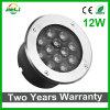12W al aire libre 12V calientan la luz subterráneo blanca/blanca del LED
