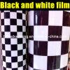 Chequers in bianco e nero Vinyl Film per Car Wrapping