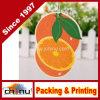 Naranja en forma de tarjeta de papel rígido Inofensivo fragancia duradera ambientador de aire colgante Decoración (450042)