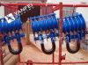 Bloque de arrebatamiento resistente de la polea con las ruedas del doble de la polea