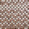 石造りの大理石のクリスタルグラスのモザイク・タイルの組合せ(M815013)