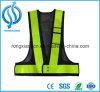 Chaleco reflexivo anaranjado al por mayor de la seguridad con los bolsillos para el desgaste de los trabajadores del saneamiento