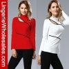 2명의 색깔 형식 불규칙한 High-Necked 여자 t-셔츠
